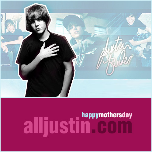 Justin Bieber on Mothersday picture